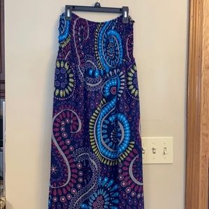 Sz Med Old Navy strapless multi color Maxi Dress